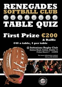Renegades Table Quiz
